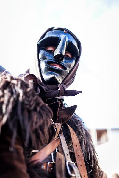 Maschere di Mamoiada. La maschera di un Mamuthones