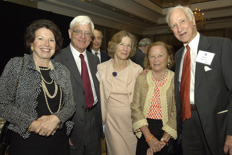 Susan Sloan, trustee emeritus John Cabot with Carroll Cabot, and Joan and Henry Lee.