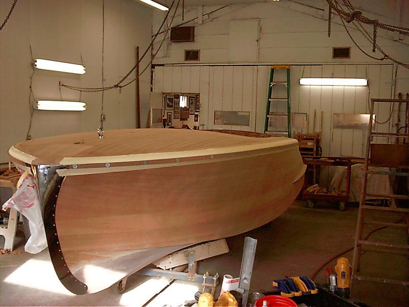 Port wood rub rail installed.