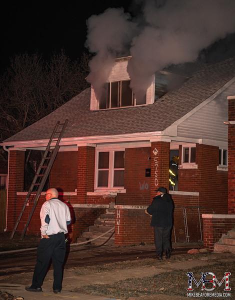 Detroit MI, House Fire 1-10-2021 #1