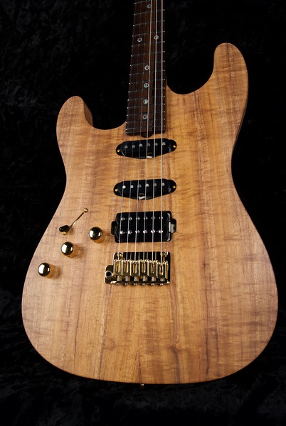 25th Anniversary NOS Koa Top (Lefty) #3796, Satin Natural Koa Finish, Grosh S/S/H Pickups Featuring New Blown 79 Humbucker