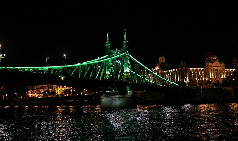 The Liberty Bridge in Budapest, built in 1896.