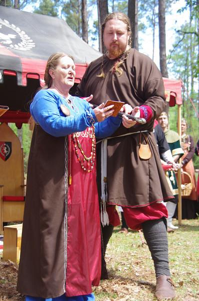 Jon and Emma swear to defend the kingdom
