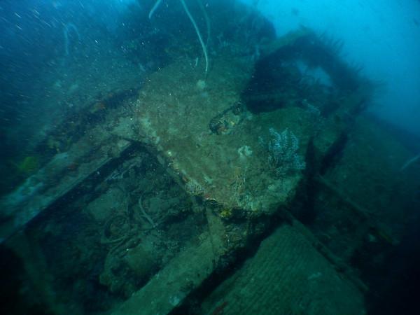 Landing craft wreck