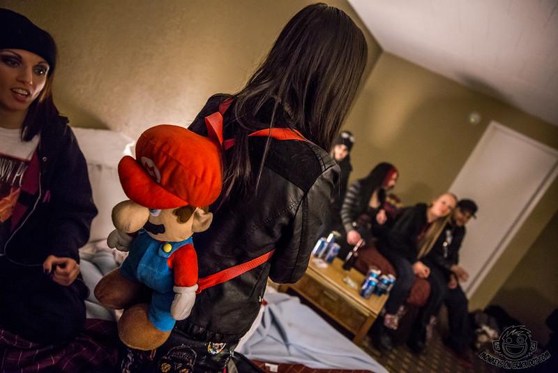 """Do me a favor.. Sneak and take photos of my Mario for me"""