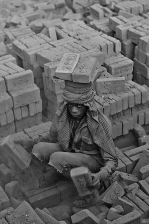 Brick Kilns in Kathmandu Valley (Black & White)