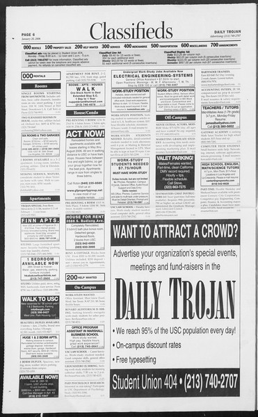 Daily Trojan, Vol. 157, No. 7, January 20, 2006