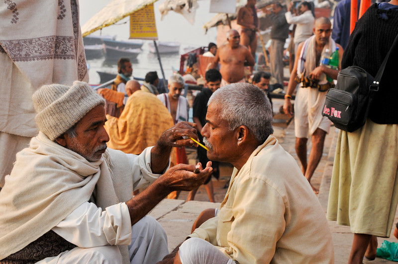 On the ghats in Varanasi.