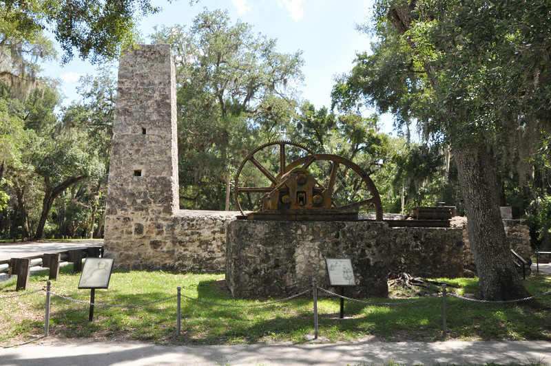 The Yulee Sugar Mill was built by David Levy Yulee who in 1845 became Florida's first U .S. Senator.  He operated the 5,100 acre sugar plantation and mill near Homosassa with over 150 slaves until 1861 when the Civil War brought an end to its operation and Yulee was later imprisoned for his support of the Confederacy.