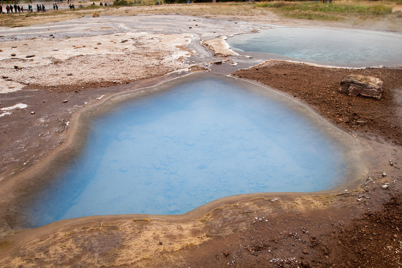 Hot pools next to Geysir