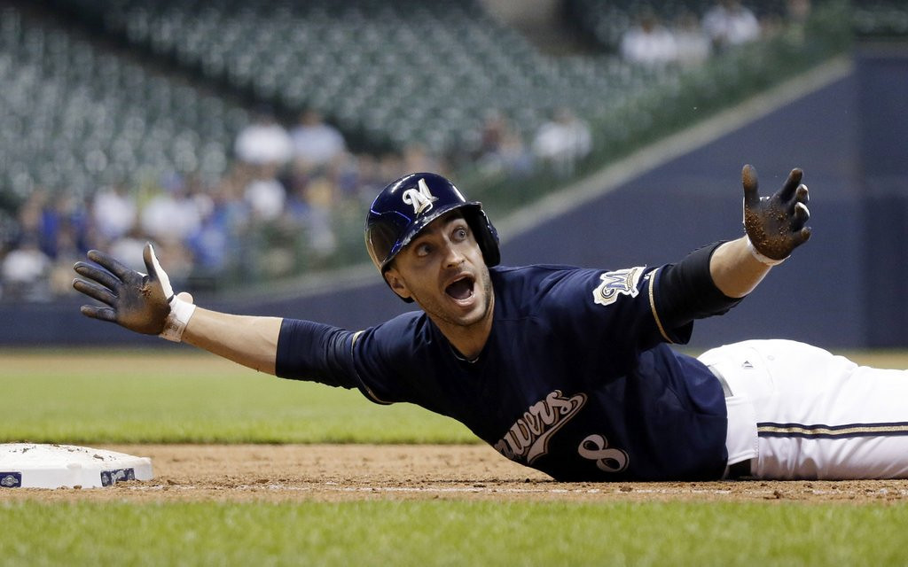 ". <p>32. RYAN BRAUN <p>We�re looking forward to him returning from his steroid suspension and hitting ... oh ... about 10 homers. <p><b><a href=\'http://www.nydailynews.com/sports/i-team/braun-apologizes-lying-violating-mlb-drug-policy-article-1.1434422\' target=""_blank\""> HUH?</a></b> <p>    (AP Photo/Morry Gash)"