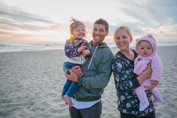 Family beach sunset