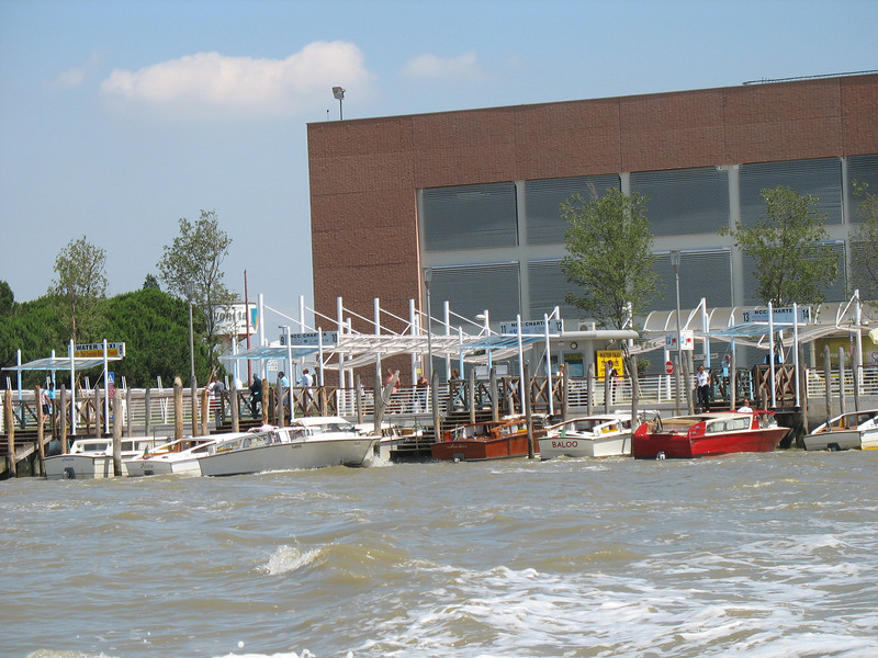 On a water taxi leaving Venice Airport