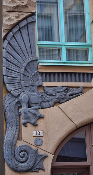 "Tallinn, Estonia: ""Egyptian Building"", detail"