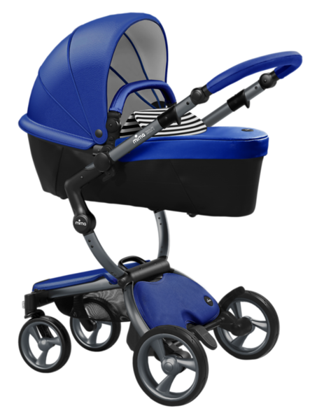 Mima_Xari_Product_Shot_Royal_Blue_Graphite_Chassis_Black_And_White_Stripe_Carrycot.png