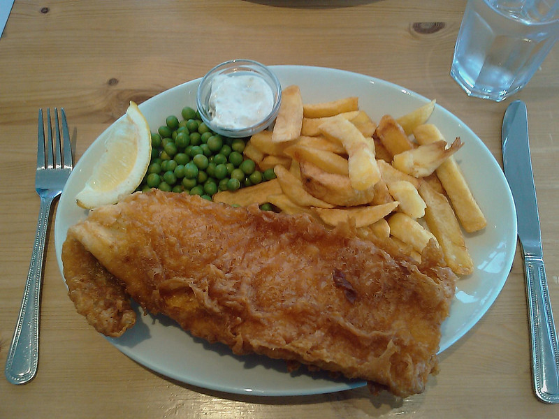 Wonderfully delicious Fish And Chips as a British meal.