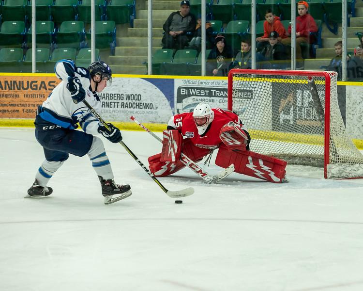 AJHL Playoffs: R1G7: Camrose Kodiaks v Canmore Eagles