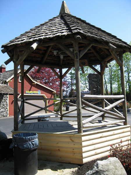 The Canobie Ramblers Gazebo was renovated, with a new base.