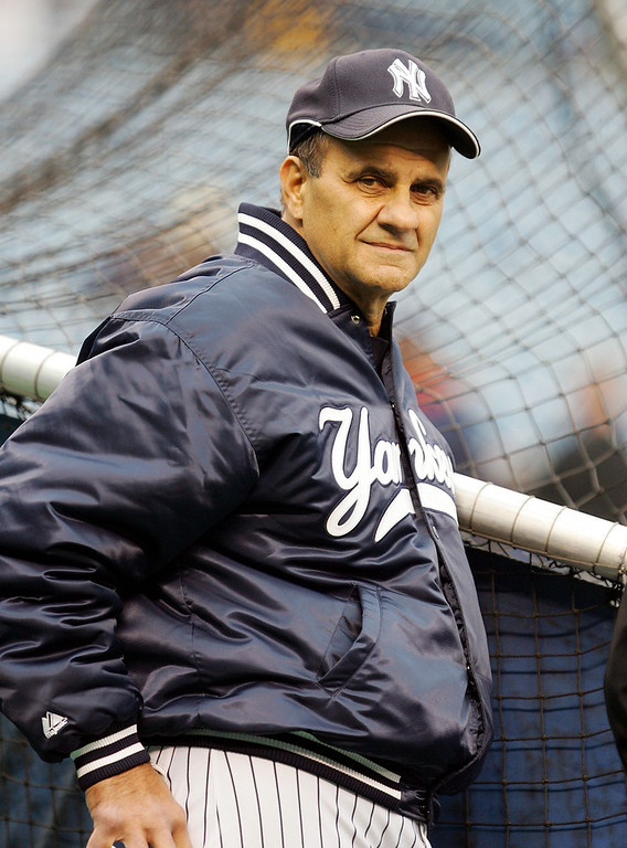 . Manager Joe Torre of the New York Yankees looks on before playing the Boston Red Sox at Yankee Stadium on April 27, 2006 in the Bronx borough of New York City.  (Photo by Jim McIsaac/Getty Images)