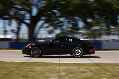 24 Black Porsche