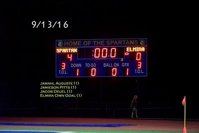 ME (4) Elmira (0) Boys Varsity Soccer 9/13/16