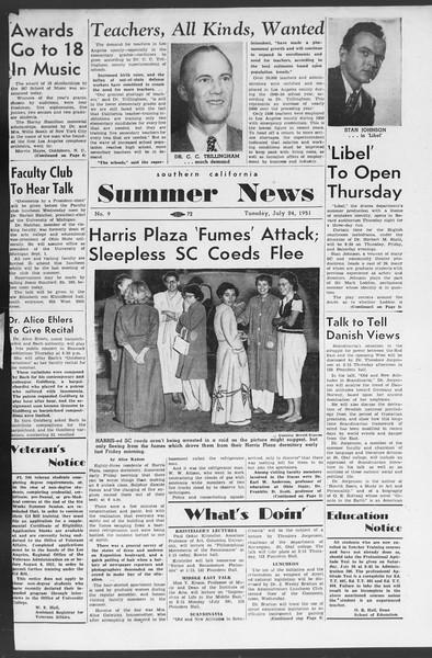 Summer News, Vol. 6, No. 9, July 24, 1951