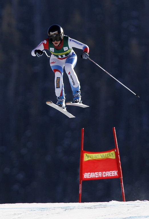 . Lara Gut of Switzerland takes 1st place during the Audi FIS Alpine Ski World Cup Women\'s Downhill on November 29, 2013 in Beaver Creek, Colorado. (Photo by Alexis Boichard/Agence Zoom/Getty Images)