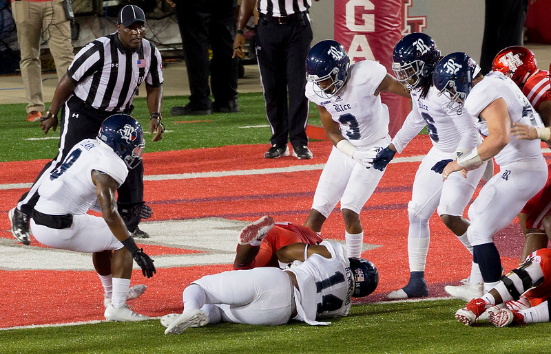 Catalon (face down)  rushes 1 yard for yet another UH touchdown.