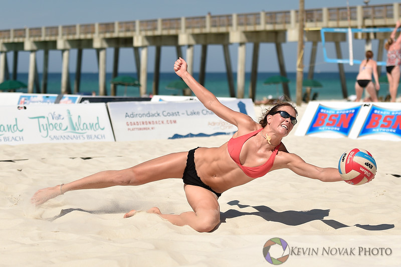 May 23, 2015--Panama City Beach, FL.  Beach volleyball action during the EVP Tour Southeastern States Championship.  ©2015 Kevin Novak.