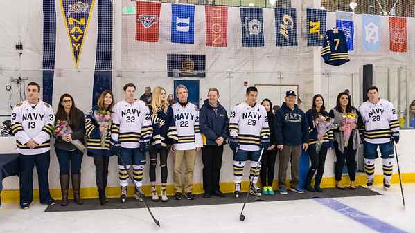 NAVY Men's Ice Hockey Senior Night  (01/27/2018)