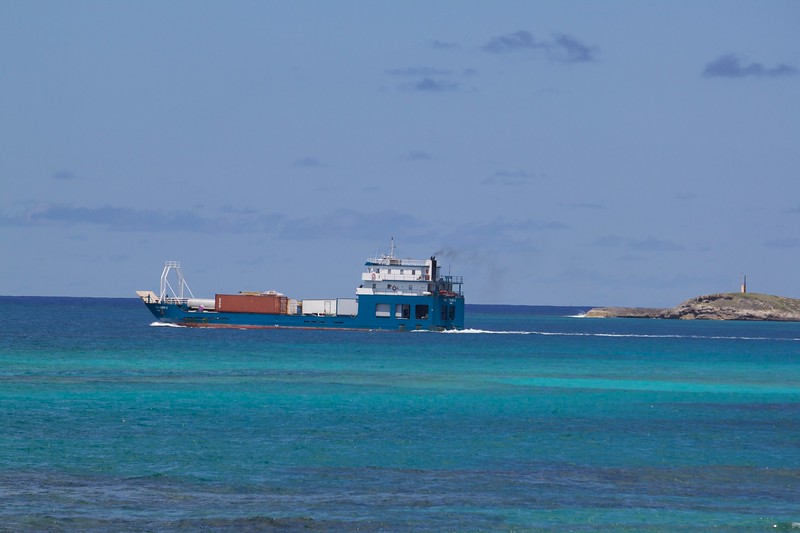 The mailboat departs Clarence Town