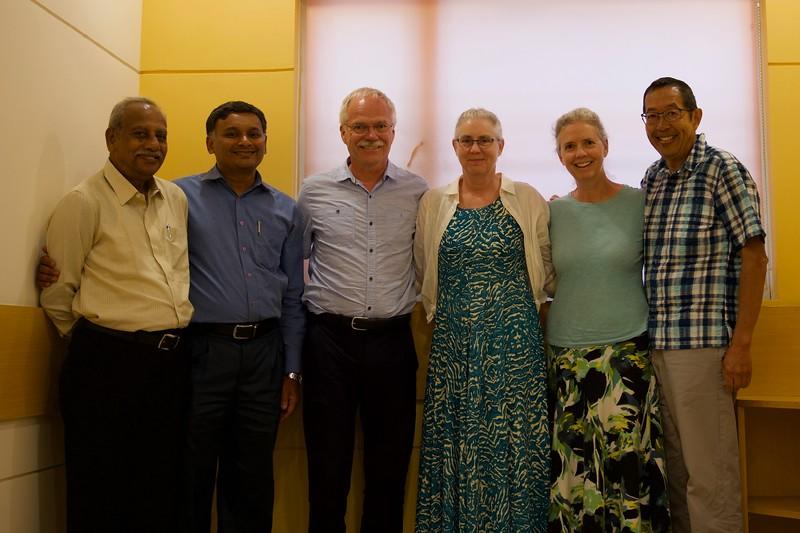 Jay, Sanju, Sherldon, Mitzi, Sheri and Harvey after our meeting in Mangalore