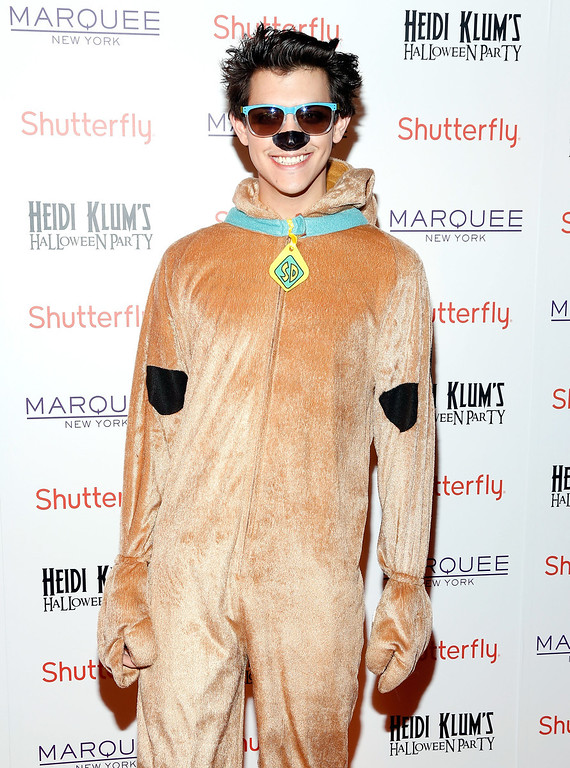. Recording artist Nick Hissom attends Shutterfly Presents Heidi Klum\'s 14th Annual Halloween Party sponsored by SVEDKA Vodka and smartwater at Marquee on October 31, 2013 in New York City.  (Photo by Cindy Ord/Getty Images for Heidi Klum)