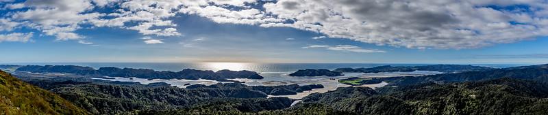 Blick vom «Knuckle Hill» auf die Bucht von Whanganui