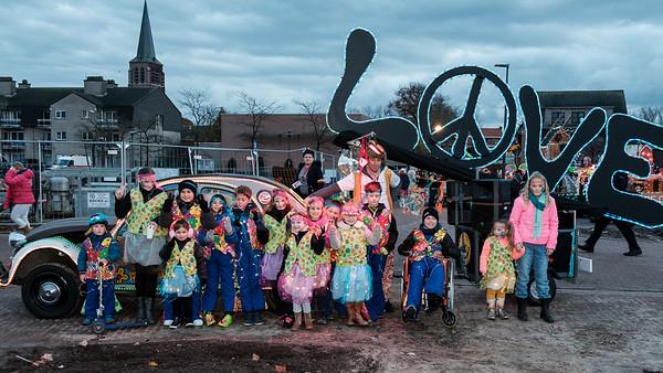 Lichtstoet en Sinterklaas 2017 - Opstellen lichtstoet