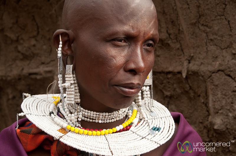Masai Woman in Beads - Lake Manyara, Tanzania