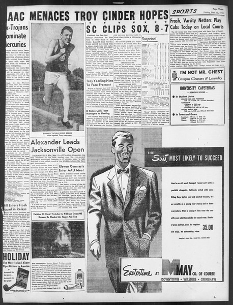 Daily Trojan, Vol. 39, No. 98, March 12, 1948