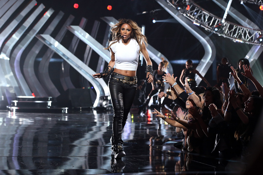 ". LOS ANGELES, CA - DECEMBER 16:  Singer Ciara performs onstage during ""VH1 Divas\"" 2012 at The Shrine Auditorium on December 16, 2012 in Los Angeles, California.  (Photo by Christopher Polk/Getty Images)"