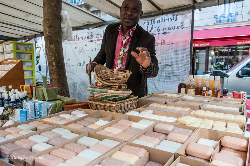 French milled soaps at the open market
