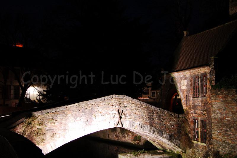 The Bonifacius bridge (Bonifaciusbrug) in the surroundings of the Church of Our Lady (Onze-Lieve-Vrouwekerk) in Bruges (Brugge), Belgium.