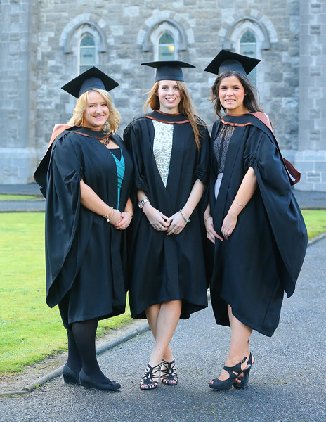 Waterford Institute Of Technology Conferring. Pictured at WIT Waterford Institute Of Technology Conferring are Theresa McGrath, Tipperary,  Jillian O'Dwyer, Kilkenny and  Sarah Hennessey, Kilkenny who graduated Bachelor of Business (Honours). Picture: Patrick Browne