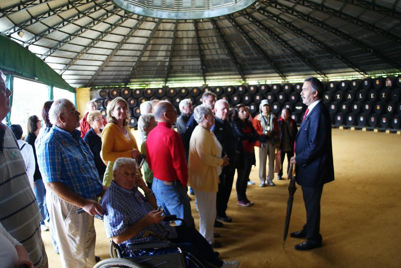 Wine Tour, Jerez de La Frontera, Spain.  We were told the tent was designed by Eiffel.