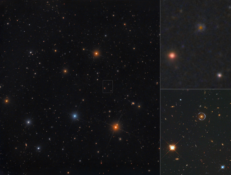 An Einstein Ring in Leo: The Cosmic Horseshoe - with Hubble Comparison