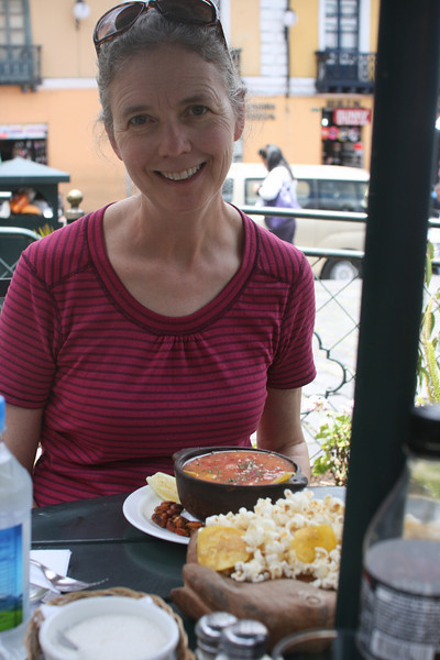 Our first lunch in Quito.