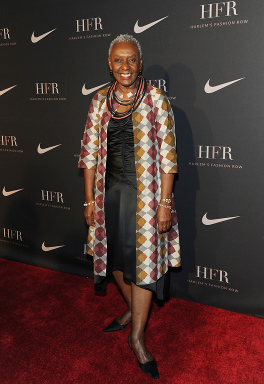 . Honoree Bethann Hardison, fashion activist and model, attends a fashion show and awards ceremony held by the Harlem Fashion Row collective and Nike before the start of New York Fashion Week, Tuesday, Sept. 4, 2018. (AP Photo/Diane Bondareff)