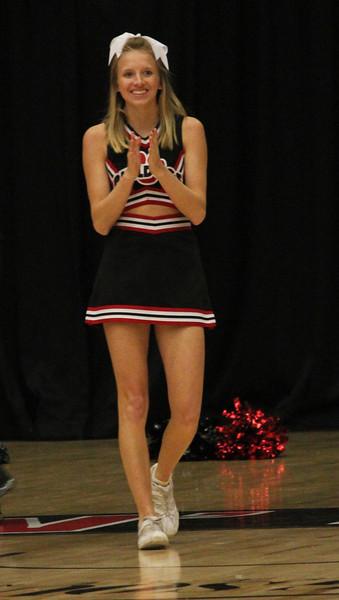 Sophomore cheerleader, Cameron Puckett