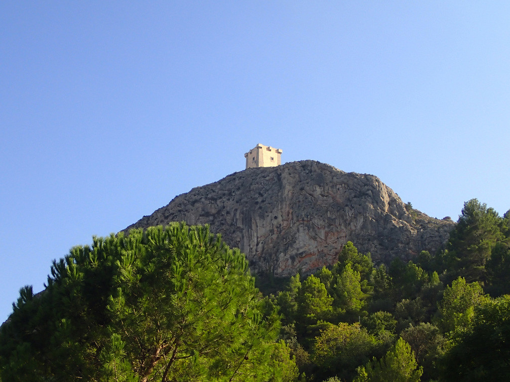 El Castell view from the car park