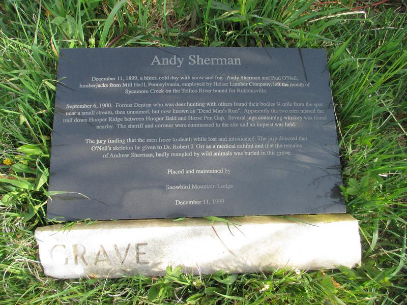Huckleberry Trail - Andy Sherman Gravesite
