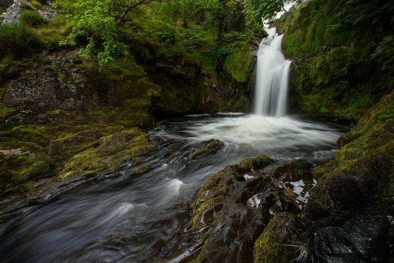 Base of Rheaedr Ceunant Fawr near Llanberis, Wales