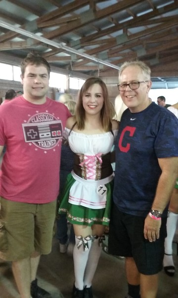 Oktoberfest in Cleveland with Allison in the Miss Oktoberfest Contest - 2016